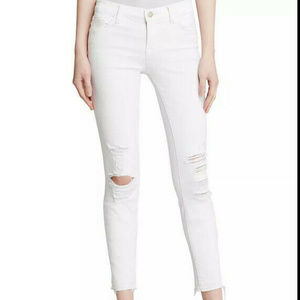 J Brand light pink ice ripped skinny Jeans EUC 26